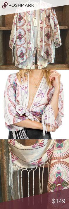 Cleobella Olivia Kimono Gorgeous shirt/jacket. New w/tag-never worn. Original price $189. Size Small. Cleobella Tops