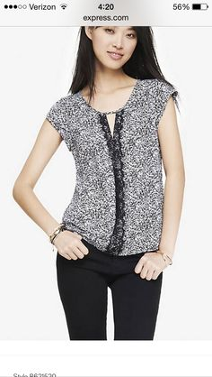 84754188d7327 Have two tops this style but then I saw this top in the black and white  print.