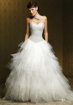 Beautiful White beaded bodice Mia Solano Wedding Dress