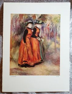 Vintage Auguste Renoir,  Offset Lithograph,  La Promenade,  Ready To ship,  Vintage Art,  Antique Prints, by FunFloridaVintage on Etsy