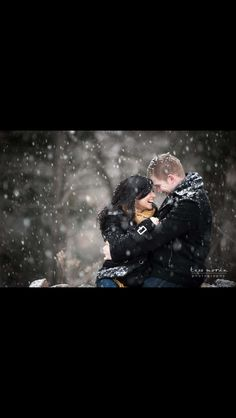 Engagement shoot on s snowy day!