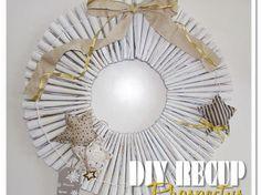 """Récup'= Une Déco de Noël """" Couronne en Prospectus/ Magazines récup,Noël,DIY,recyclage,Tuto,papier,décoration de noël,couronne,idée déco,idée récup,prospectus,magazines"""