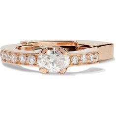 Repossi Mini Creole 18-karat rose gold diamond ear cuff ($2,850) ❤ liked on Polyvore featuring jewelry, earrings, rose gold, star earrings, ear cuff, rose gold ear cuff, diamond earrings and diamond jewelry