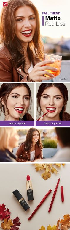 You can wear a red lip, too! Rock this easy fall trend now.