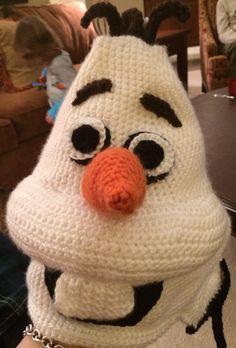 Crochet Olaf Hat.  Designer:  Victoria Rose.