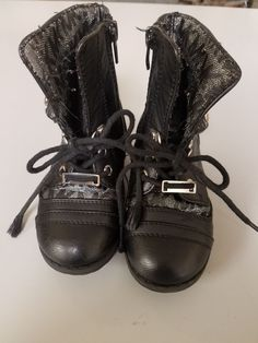 0f7badaea06 Michael Kors black toddler girl boots size 7 preowned  fashion  clothing   shoes