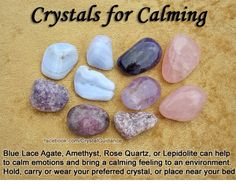 Crystals for Calming — Blue Lace Agate, Amethyst, Rose Quartz, or Lepidolite can help to calm emotional and bring a calming feeling. Crystal Magic, Crystal Grid, Crystal Castle, Crystal Palace, Amethyst Crystal, Crystals And Gemstones, Stones And Crystals, Gem Stones, Reiki
