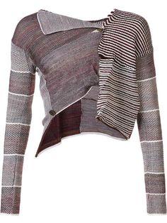 Shop Andreas Kronthaler For Vivienne Westwood cropped patchwork cardigan.
