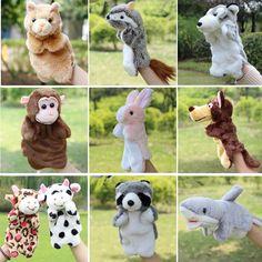 동물 손 인형 장난감 봉제 인형 팬더 늘보 토끼 소 고양이 원숭이 뱀 인형 아기 장난감 Brinquedo Marionetes Fantoche