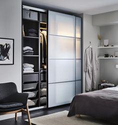 Pax System, Ikea Pax Korpus, Pax Planer, Ikea Canada, Bedroom Wardrobe, Glass Wardrobe, Ikea Wardrobe, Built In Wardrobe, Wardrobe Wall