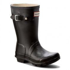 Kalosze HUNTER - Original Kids W23500 Black Hunter Original, Hunter Boots, Rubber Rain Boots, The Originals, Model, Kids, Shoes, Black, Fashion