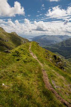 Path to Loch Lomond from Ben Vorlich. Scotland.  - (explore your biking wanderlust on www.motorcyclescotland.com)
