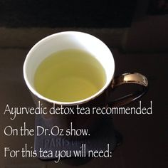 Did you overdo it? Just in case ... Unwind and detox with this Dr. Oz-approved ayurvedic tea. Just 3 simple and delicious ingredients -- cumin, fennel, and coriander.