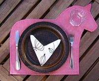 horse placemat - this would be cute just cut out of craft paper for a birthday party