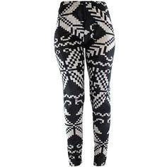 Black & White Winter Snowflake Velour Leggings