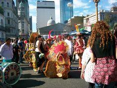 colectividad boliviana en la plaza