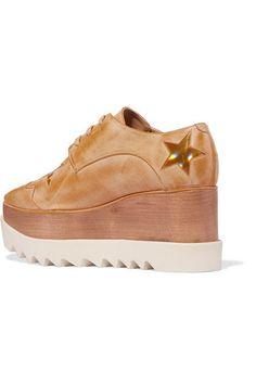 Stella McCartney - Faux Leather Platform Brogues - Gold - IT38.5