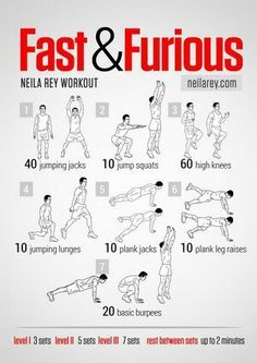 Fast and Furious All Cardio Workout Workout Cardio, Neila Rey Workout, Hero Workouts, Cardio Training, Gym Workouts, At Home Workouts, Ufc Training, Po Trainer, Workout Routines