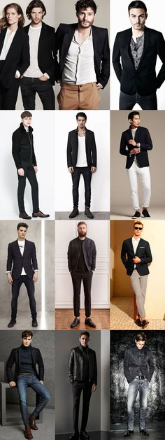 The Black Suit : Smart-Casual Cool Lookbook Inspiration