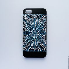 Купить Чехол - крышка для телефона iPhone 5 - черный, орнамент, чехол для телефона, чехол на телефон