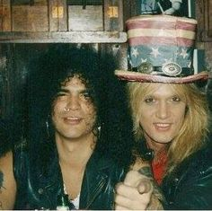 Slash and Sebastian Bach Sebastian Bach, 80 Bands, Cool Bands, Heavy Rock, Heavy Metal, Rock Music, My Music, Saul Hudson, Hair Metal Bands