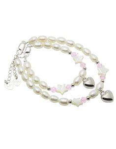 Mum & Me Silver Bracelet 'Midnight Star' with Heart