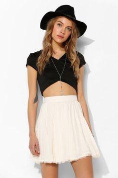 Kimchi Blue Magnolia Lace-Inset Mini Skirt #urbanoutfitters