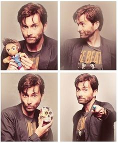 David Tennant, the doll, the sonic screwdriver, the Beatles shirt and the skull...perfect