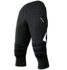 Ichnos adult size padded cropped 3/4 goalkeeper pants