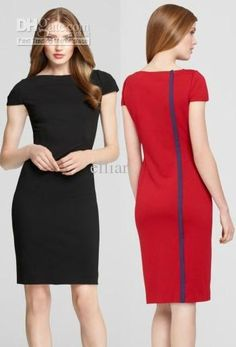 2013 Fashion Elegant Black Women Pencil Dress Office Wear Black Dresses  Long Dresses From Ellian d5ed6b567