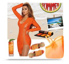 """SUMMER"" by airin-flowers ❤ liked on Polyvore featuring GX and Black"