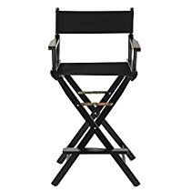 """Casual Home Frame Canvas Director Chair, 30"""", Black"""
