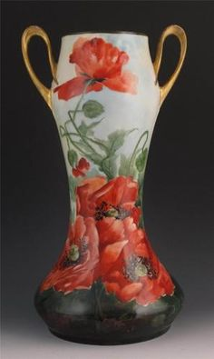 A beautiful limoges guerin vase