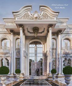 Modern Exterior House Designs, Dream House Exterior, Modern House Plans, Modern Castle House, House Gate Design, Villa Design, Home Room Design, Classic House Design, Classic Style