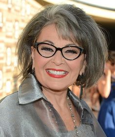 Roseanne Barr - She's even prettier in grey as she was in brown! What a smile!:
