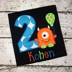 Personalized Lil Monster Birthday Design - Bright Colors