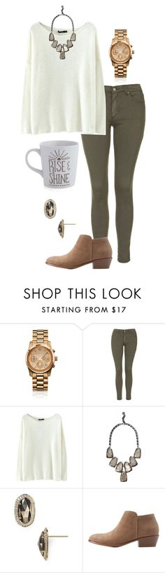 """Rise and shine sleepy head ☺️☀️"" by madelyn-abigail ❤ liked on Polyvore featuring Michael Kors, Topshop, Kendra Scott, Charlotte Russe and Crate and Barrel"