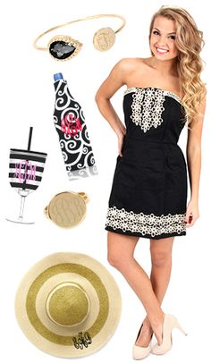 Get ready for #datenight with this #ootd. {Dress & Shoes are from mondaydress.com} * {Accessories are from marleylilly.com}  #datenight #littleblackdress #lbd #derby