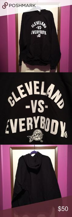 Cleveland Vs Everybody Hoodie Cleveland Vs Everybody Hoodie. New with tags. Size 3XL in Men's. 50% cotton, 50% polyester. Price is negotiable and ships next day. Shirts Sweatshirts & Hoodies
