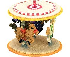 3D Carousel Perler Project Pattern