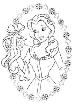The Brilliant Attractive Christmas Princess Coloring Pages