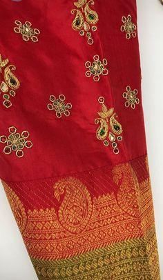 Saree Black Blouse Designs, Best Blouse Designs, Simple Blouse Designs, Bridal Blouse Designs, Hand Work Embroidery, Embroidery Designs, Embroidery Art, Mango Mala Jewellery, Maggam Work Designs