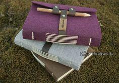 Tapires vendaje de cuero hechos a mano lápiz de madera diario portátil vintage, bloc de notas (pluma / bolso del lápiz)