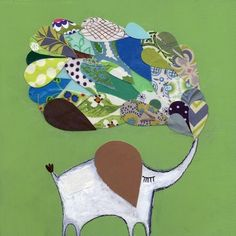 lucky green elephant by MatiRoseStudio on Etsy, $35.00