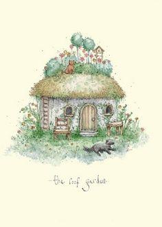 Roof Garden - A Two Bad Mice card by Fran Evans Sam Mcbratney, Anita Jeram, Evans Art, Country Art, Cute Pins, Kids Prints, Most Popular Artists, Cute Illustration, Cute Drawings