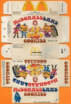 McDonaldland Cookies - 1974 Loved these!