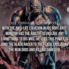 Daily Facts #dccomics #allthingsdcmarvel #antimonitor -Malvin by...