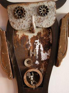 found object sculpture by Norfolk Va artist Sam Hundley www.samhundley.com