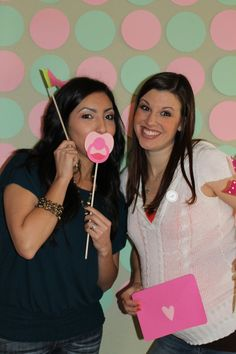 Baby Showers-PHOTO BOOTH IDEA, LIKE AT WEDDING SHOWER W/ COOL PROPS, GIRLS HAVING FUN CELEBRATING THE BABY AND MOM!