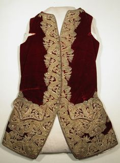 Waistcoat  National Trust Inventory Number 1349004 Date1750 - 1755 CollectionSnowshill Wade Costume Collection, Gloucestershire (Accredited Museum)